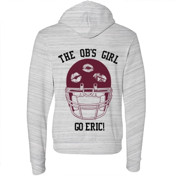 The QB's Girl Unisex Canvas Fleece Full-Zip Hoodie
