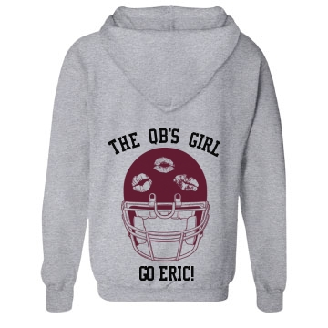 The QB's Girl Unisex Gildan Heavy Blend Full Zip Hoodie