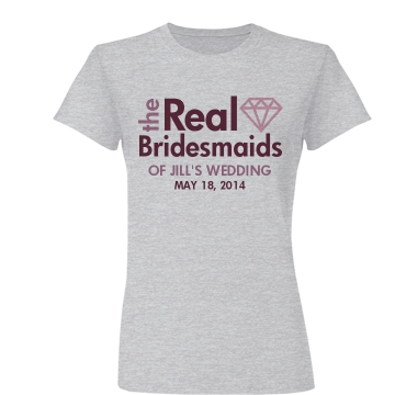The Real Bridesmaids Junior Fit Basic Bella Favorite Tee