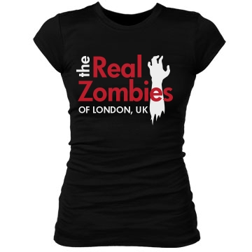 The Real Zombies Junior Fit Bella Sheer Longer Length Rib Tee
