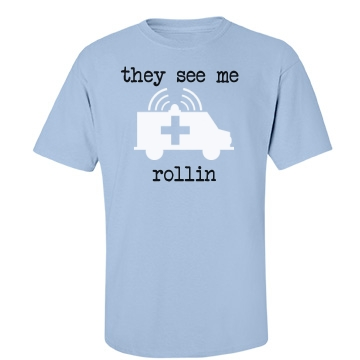 The See Me Rollin Unisex Port & Company Essential Tee