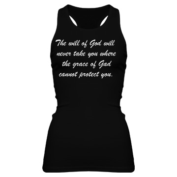 The Will of God Junior Fit Bella Sheer Longer Length Rib Racerback Tank Top