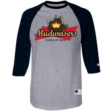 This Mud Run's for You Unisex Champion 3/4 Sleeve Raglan Baseball Tee