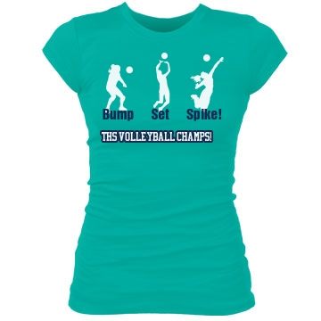 THS Volleyball Tee Junior Fit Bella Sheer Longer Length Rib Tee
