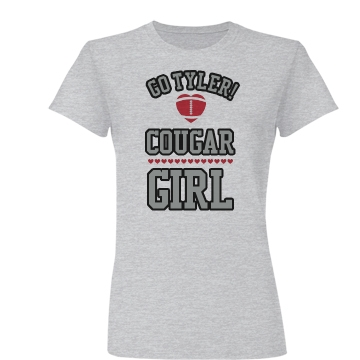 Tiers Football Girlfriend Junior Fit Basic Bella Favorite Tee