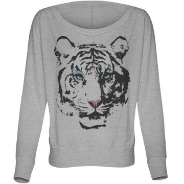 Tiger Fashion Tee Bella Flowy Lightweight Long Sleeve Dolman Tee