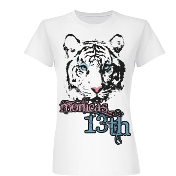 Tiger Graphic 13th B-Day Junior Fit Basic Bella Favorite Tee