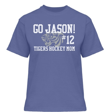 Tiger Hockey Mom Misses Relaxed Fit Gildan Heavy Cotton Tee