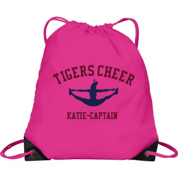 Tigers Cheer bag Port & Company Drawstring