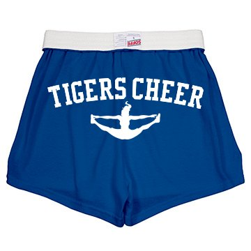 Tigers Cheer Shorts Junior Fit Soffe Cheer Shorts