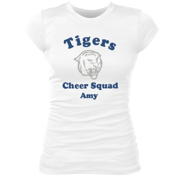 Tigers Cheer Squad Junior Fit Bella Sheer Longer Length Rib Tee