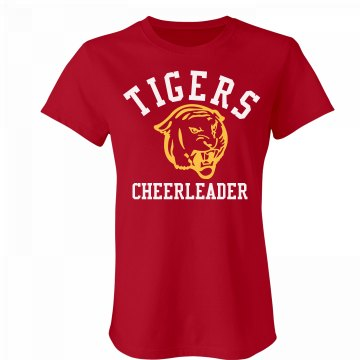 Tigers Cheerleader Junior Fit Bella Favorite Tee