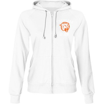 Tigers Fan Hoodie Junior Fit Bella Fleece Raglan Full Zip Hoodie