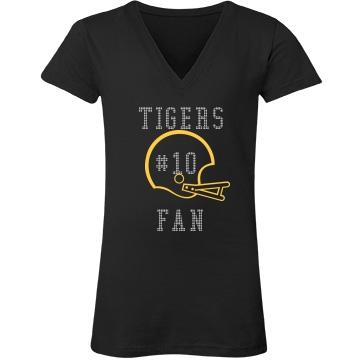 Tigers Fan Rhinestones
