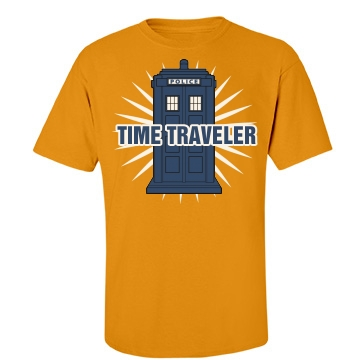 Time Traveler Unisex Port & Company Essential Tee