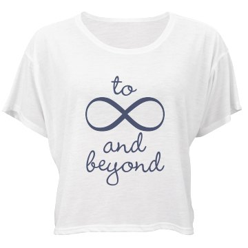 To Infinity And Beyond Bella Flowy Boxy Lightweight Crop Top Tee
