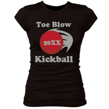 Toe Blow Kickball Junior Fit Bella Sheer Longer Length Rib Tee