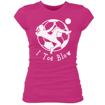 Toe Blow Soccer Tee Junior Fit Bella Sheer Longer Length Rib Tee