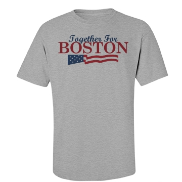 Together For Boston Unisex Basic Port & Company Essential Te