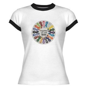 together Junior Fit Bella 1x1 Rib Ringer Tee