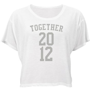 Together Tees Bella Flowy Boxy Lightweight Crop Top Tee