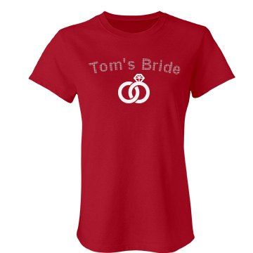 Tom's Bride Rhinestones Junior Fit Bella Favorite Tee