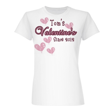 Tom's Valentine Junior Fit Basic Bella Favorite Tee