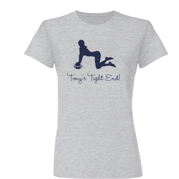 Tony's Tight End Tee Junior Fit Basic Bella Favorite Tee