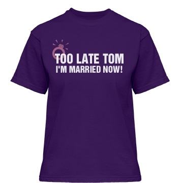 Too Late Tom Misses Relaxed Fit Gildan Heavy Cotton Tee