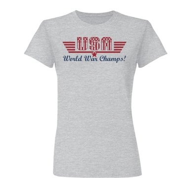 Top Gun War Champs! Junior Fit Basic Bella Favorite Tee