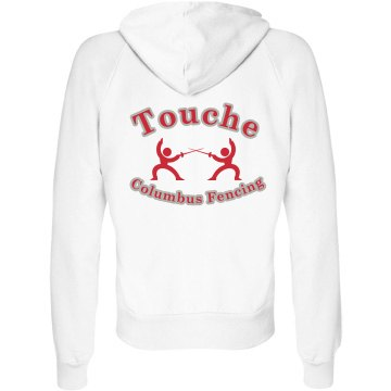 Touche Junior Fit Bella Fleece Raglan Full Zip Hoodie