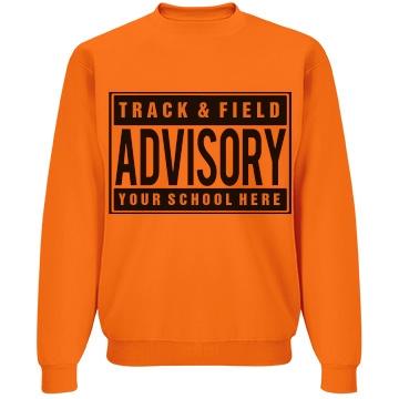 Track Parental Advisory Unisex Jerzees Neon NuBlend Crewneck Sweatshirt