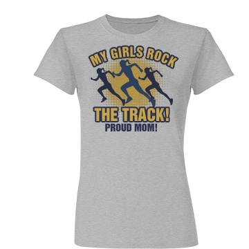 Track Sports Mom Junior Fit Basic Tultex Fine Jersey Tee