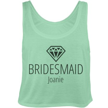 Trendy Bridesmaid 3 Bella Flowy Boxy Lightweight Crop Top Tank Top