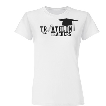 Triathlon Teachers Junior Fit Basic Tultex Fine Jersey Tee