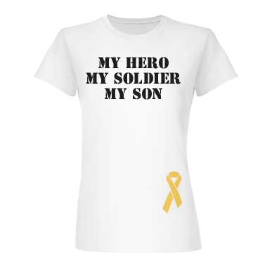 Tri-My Military Soldier Junior Fit Basic Bella Favorite Tee