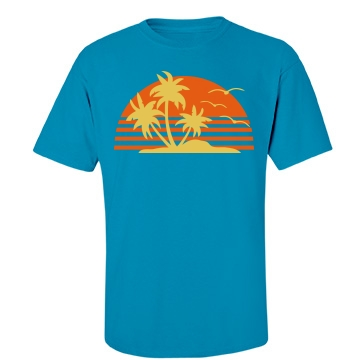 Tropical Sun Unisex Gildan Heavy Cotton Crew Neck Tee