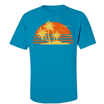 Tropical Sun Unisex Port & Company Essential Tee