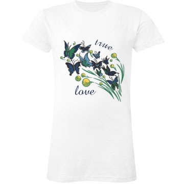 True Love Junior Fit LA T Fine Jersey Tee