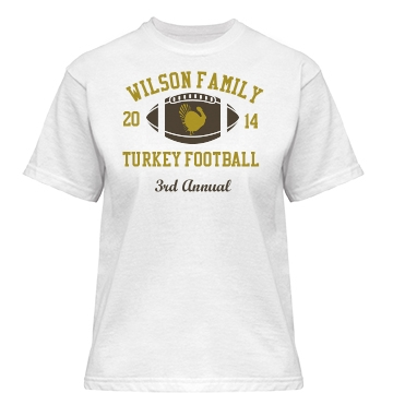 Turkey Day Football Misses Relaxed Fit Basic Gildan Heavy Cotton Tee