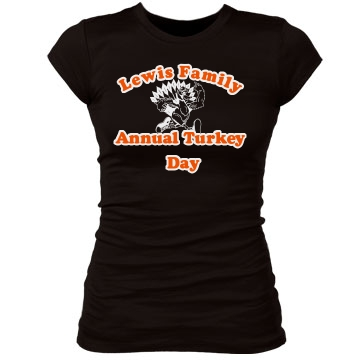 Turkey Day Tee Junior Fit Bella Sheer Longer Length Rib Tee