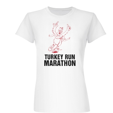 Turkey Run Marathon Junior Fit Basic Bella Favorite Tee