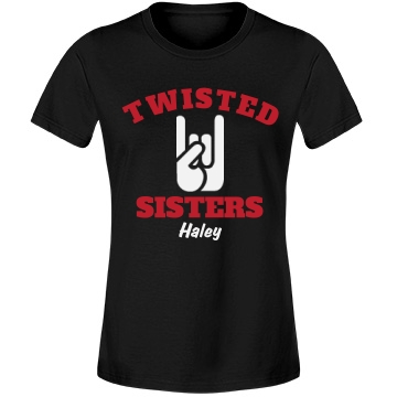 Twisted Sisters Team 2 Misses Relaxed Fit Anvil Lightweight Fashion Tee