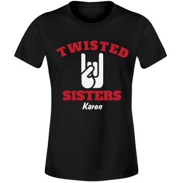 Twisted Sisters Team 3 Misses Relaxed Fit Anvil Lightweight Fashion Tee