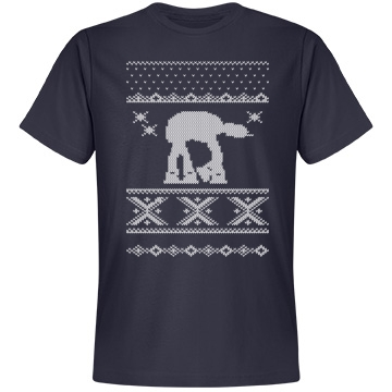 Ugly Sweater Strikes Back Unisex Anvil Lightweight Fashion Tee
