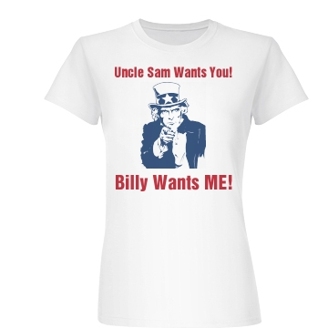 Uncle Sam Wants You Junior Fit Basic Bella Favorite Tee