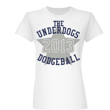 Underdogs Dodgeball Junior Fit Basic Bella Favorite Tee