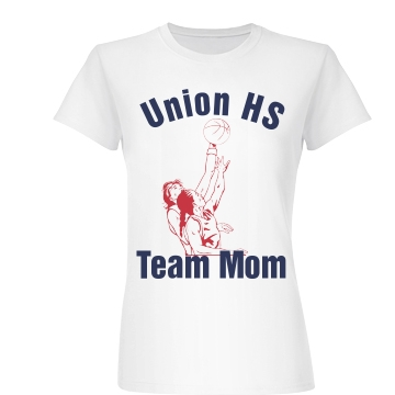 Union HS Team Mom Junior Fit Basic Bella Favorite Tee