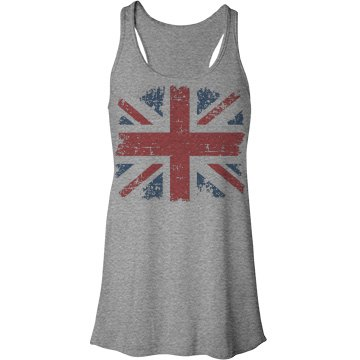 Union Jack Flowy Tank Top Bella Flowy Lightweight Racerback Tank Top