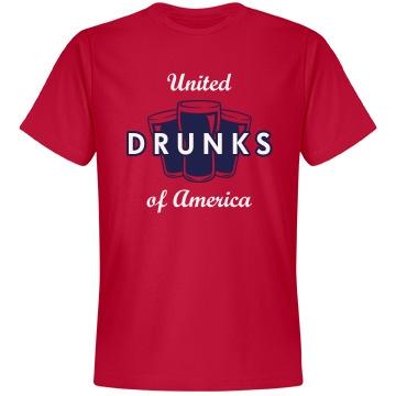 United Drunks of America Unisex Anvil Lightweight Fashion Tee